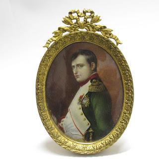 Miniature Portrait of Napoleon in Partial Profile