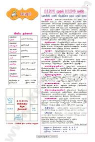 Kumudam Jothidam Raasi Palan - 2-3-2016 to 8-3-2016