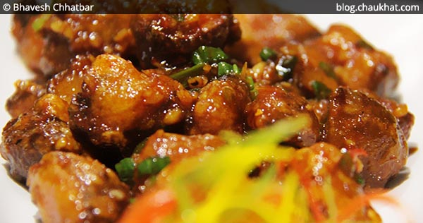 Close-up of Chilli Garlic Mushrooms at SocialClinic Restobar in Koregaon Park area of Pune