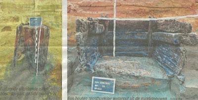 Meldert, opgravingen houten waterput (HBVL 31.07.15)