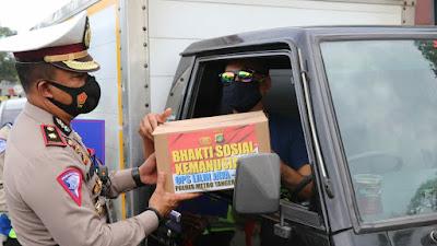 Polres Metro Tangerang Kota, Gelar operasi kemanusiaan dalam bingkai 'Operasi Lilin Jaya 2020