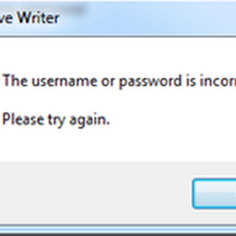 ปัญหา Login ใน Windows Live Writer