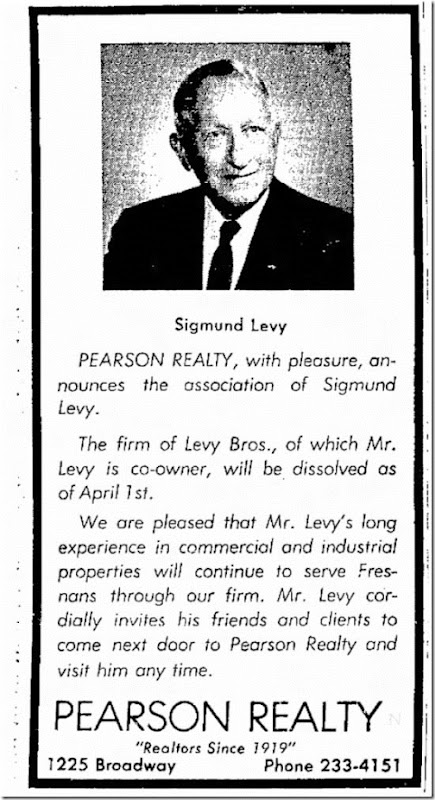 Sig joins Pearson Realty Fresno Bee 4_1_1965 page 35