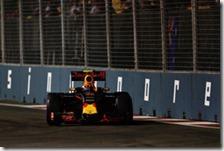 Max Verstappen nelle prove libere del gran premio di Singapore 2016