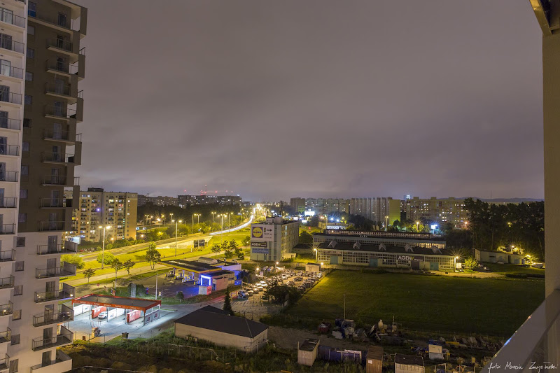 Gdansk noca Budynki, budowle, architektura