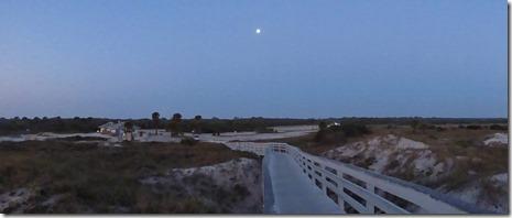 Sunrise moon, Anastasia State Park