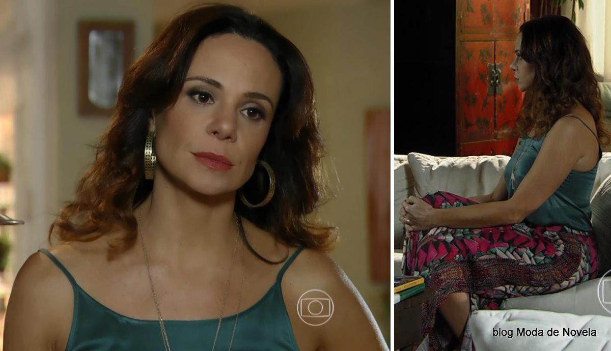 moda da novela Em Família - Julaiana da Alice dia 26 de maio