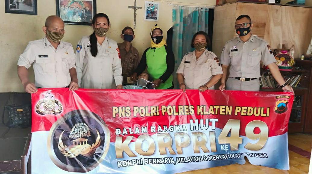 Memperingati HUT Korpri Ke-49 ASN Polres Klaten Gelar Baksos
