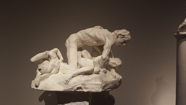 Ugolino and His Children (for The Gates of Hell), 1882, plaster. Exploring the Rodin Exhibit at the Montreal Museum of Fine Arts
