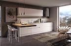 realizzazione di una cucina moderna con penisola legno massello, Bergamo