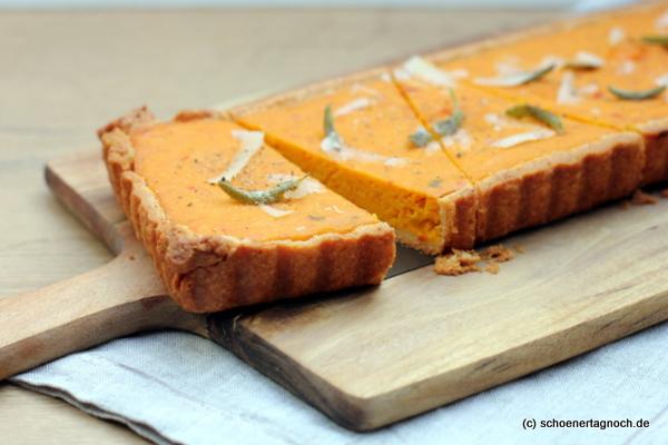 Kürbis-Quiche mit Parmesan-Mürbteigboden