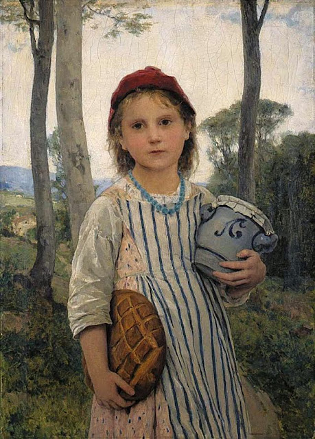 Albert Anker - Little Red Riding Hood