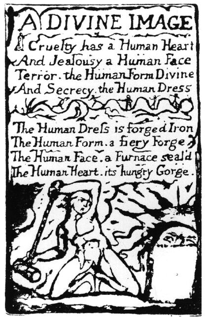 The Divine Image By Willaim Blake, William Blake