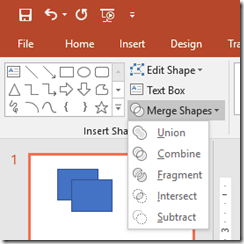 Merge Shapes in PowerPoint