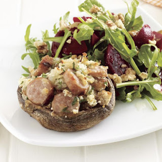 Stuffed Mushrooms with Beet Salad.