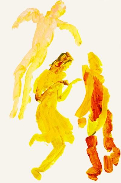 dance 3 figures xxiii (drawing by Frank Waaldijk)