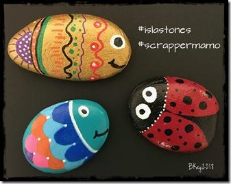 Rock Painting Fish & Ladybug