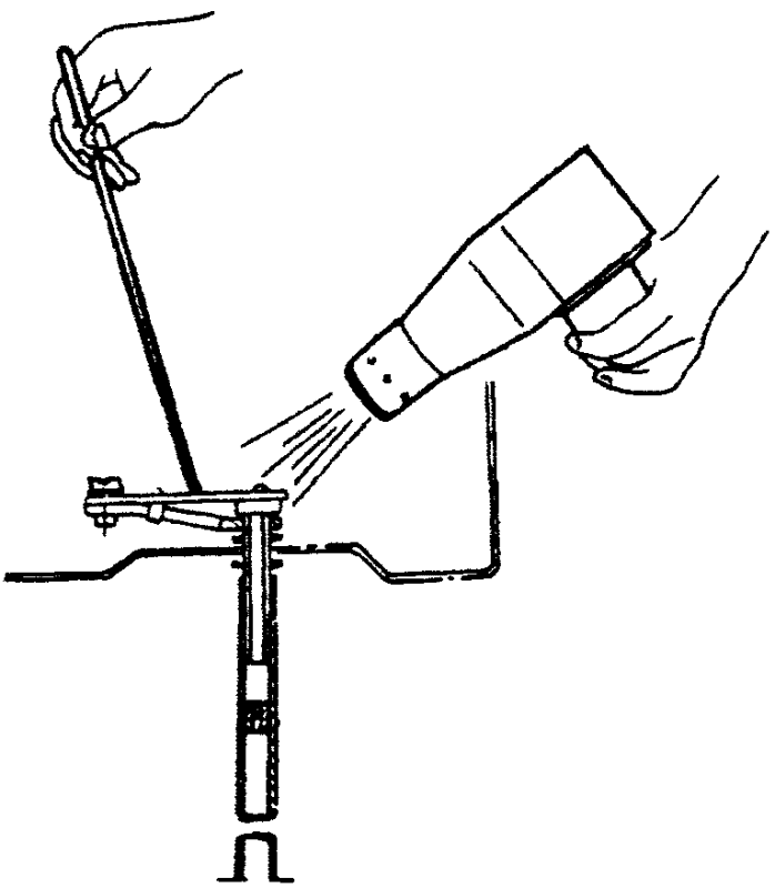 Проверка клапана температурного компенсатора с помощью фена для сушки волос и термометра