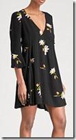 Free People Floral Crepe Mini Dress