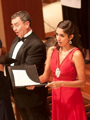 Bruce Cain, bass, Katie De La Vega, soprano. Photos by TOM HART/ FREELANCE PHOTOGRAPHER