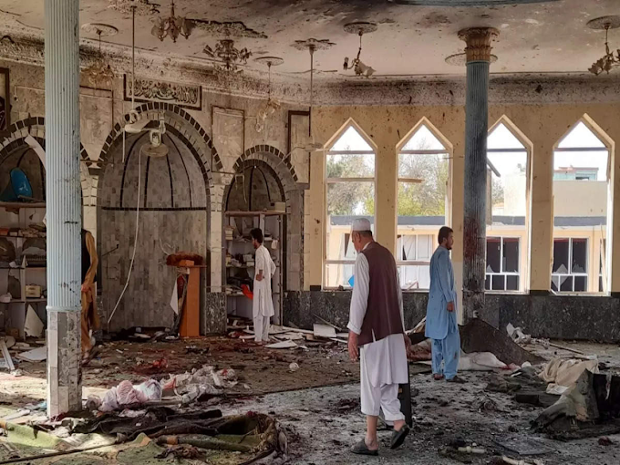 62 killed as deadly blast rocks Shiite mosque in Afghanistan's Kandahar during Friday prayers (Photos)