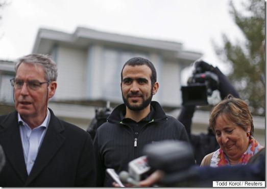 Omar Khadir with Dennis Edney