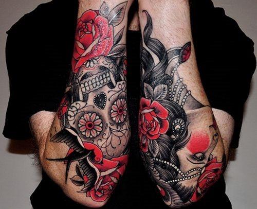 incrvel_rosa_e_a_mulher_tatuagem_no_antebraço_design