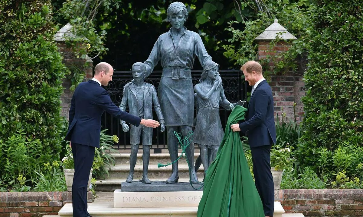 Prince William and Prince Harry's Emotional Tribute to Princess Diana at Statue Unveiling