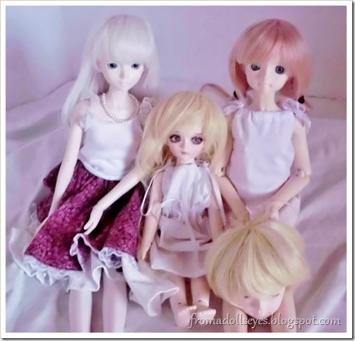 Of Bjd Hair: Reviewing Three Wigs? From Alice's Collections: All the dolls have wigs now!