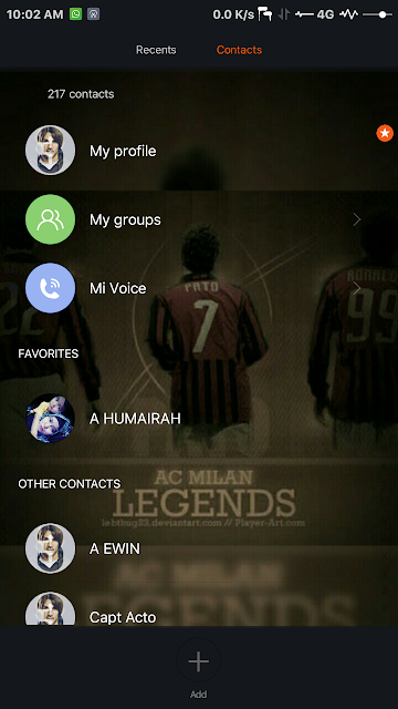 Miui 7 Theme : AC Milan Vignette v.3 Dark(some) by Yaa