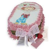 7. kép: Fényképes torták - Virágos cukormázas torta