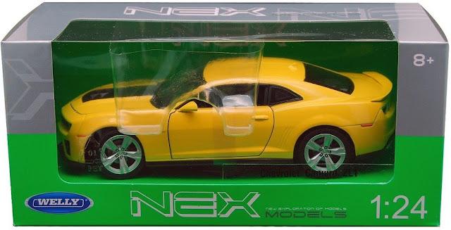 Đồ chơi Mô hình tĩnh, xe ô tô Chevrolet Camaro ZLI Welly tỷ lệ 1/24