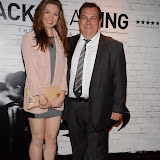 WWW.ENTSIMAGES.COM -    Bethan Jones and Kevin Jones  arriving at      THE UK PREMIERE OF (JACK TO A KING) THE SWANSEA STORY at EMPIRE, LEICESTER SQUARE London September 12th 2014.The movie of Swansea City's rise from near extinction to the top of the Premier League                                                 Photo Mobis Photos/OIC 0203 174 1069
