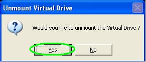 unmount virtual drive