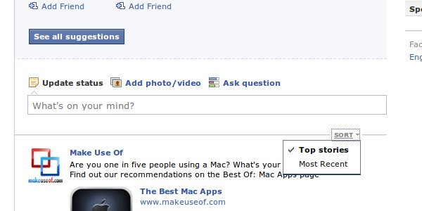 How-to: Sort by Top Stories in Facebook