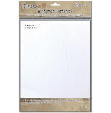 Tim Holtz Distress Woodgrain Paper 5 Sheets - White