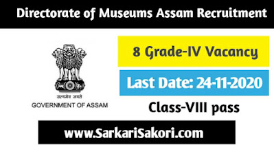 Directorate of Museums  Assam Recruitment 2020