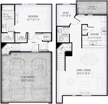Go to Tribeca 1 Floorplan page.