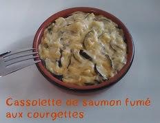 Cassolette de saumon fumé aux courgettes
