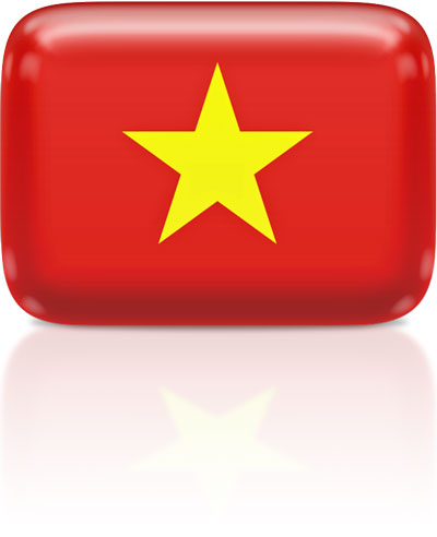 Vietnamese flag clipart rectangular