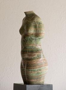 Green Torso: IRANIAN ESMARELDA ONYX, 2013; W 22cm, H 51 cm, D 18 cm; £3,500