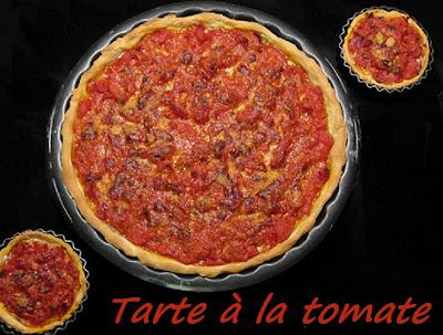 Tarte à la tomate - recette indexée dans les Entrées