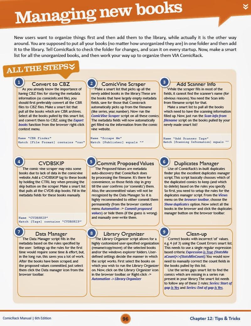 Managing new books - ComicRack Manual