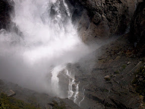 The base of Upper Yosemite Falls