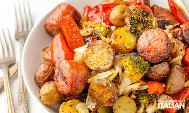 Sausage Dinner Recipe on a plate