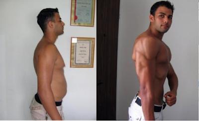 לפני ואחרי התזונה והדיאטה של קובי עזרא המטופל עומרי אזולאי