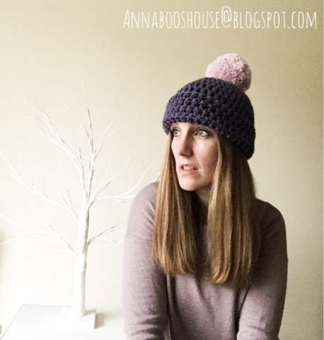 Easy-Peasy, super-quick, one ball of yarn Crochet Bobble Hat (THE perfect last minute Christmas gift