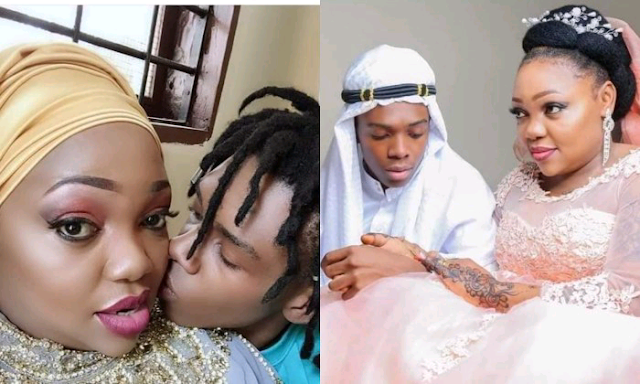 Young man, 19,  marries a woman, 40,  photos