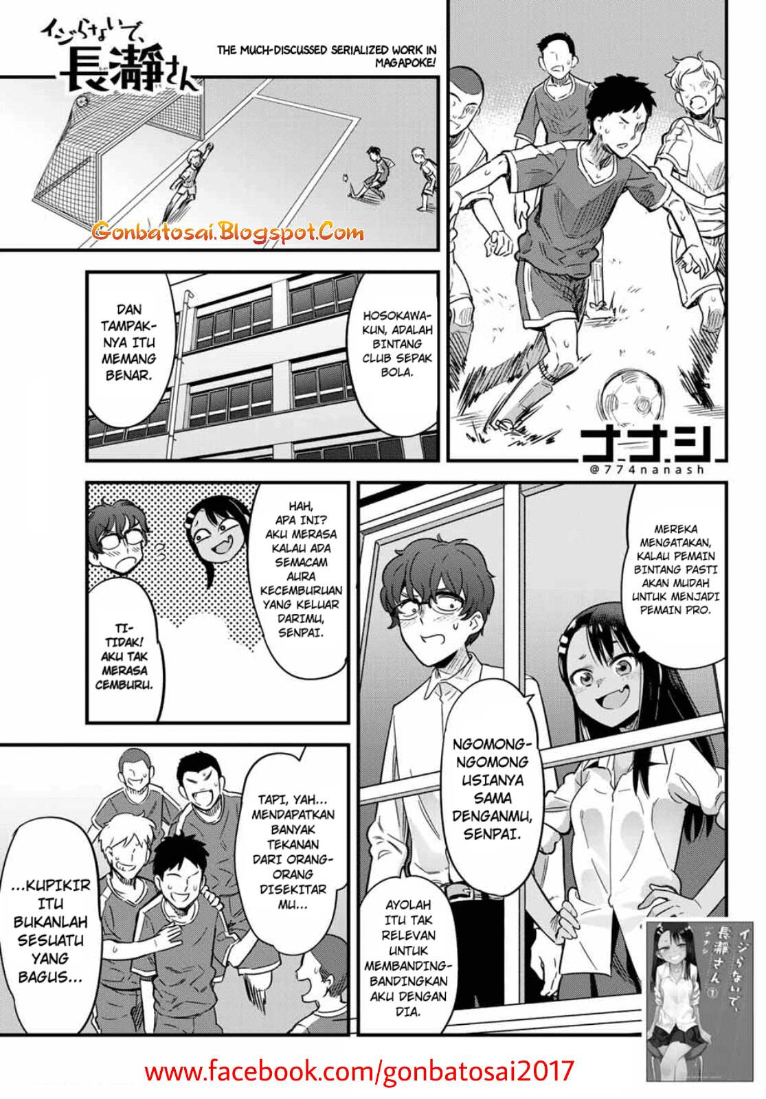 Baca Komik Ijiranaide, Nagatoro-san Chapter 10.1 Komik Station