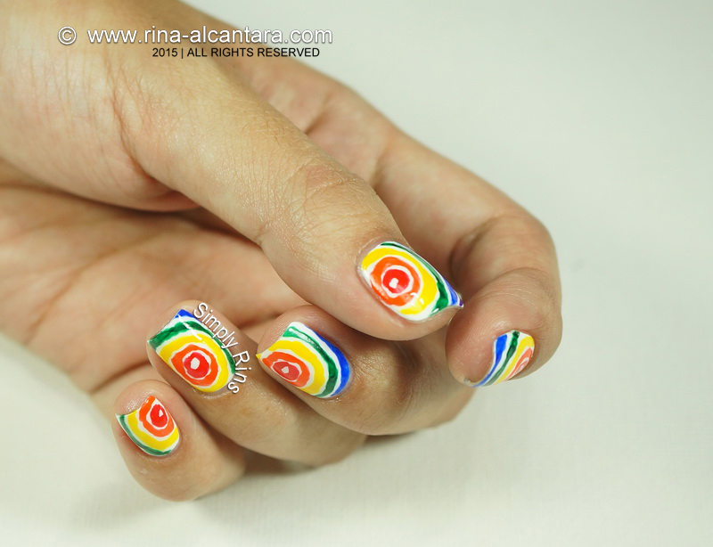 Rainbow Nail Art Design